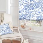 Digetex Amelia blue and white roller blind