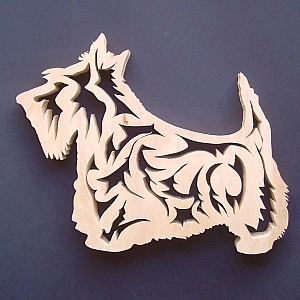Scottie dog wooden trivet by Dach Crafts
