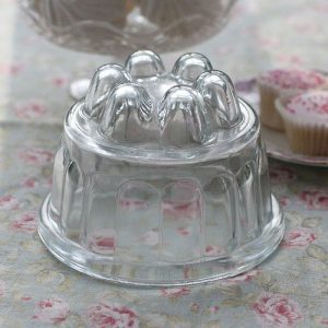 Large vintage glass jelly mould