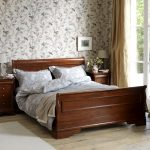 Wooden Toulon sleigh bed from Feather and Black