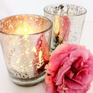 Affordable dainty silver candle holder
