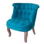 Turquoise velvet tub chair