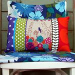 Colourful handmade bird oblong cushion cover