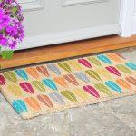 Vintage leaf design door mat