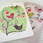 Julia Nielson Birds and Branch chopping board