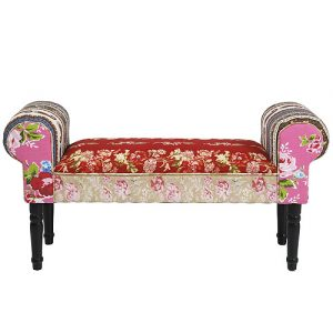 Romany kimono love seat patchwork bench