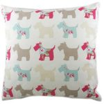 Evans Lichfield Scottie dog cushion