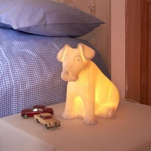 China dog night light bedside lamp