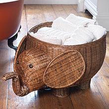 Traidcraft elephant storage basket