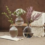Set of three fluted bud vases from The Orchard