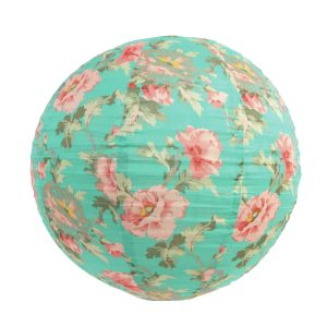 Floral vintage fabric lamp shade