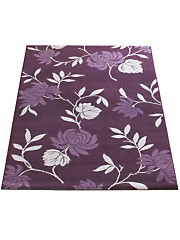 Purple floral rug for your living room