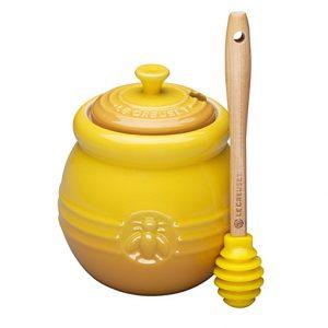 Designer stoneware preserve jam honey jar