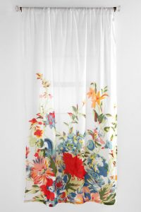 Fresh and bright floral scarf style cushion