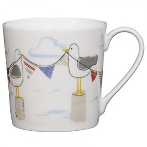Seagull design china mug