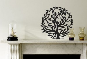 Tree of life wall sticker birds in tree