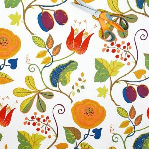 Capri Swedish cotton fabric from Hus & Hem