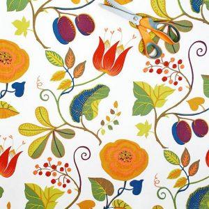 Capri Swedish cotton fabric from Hus & Hem