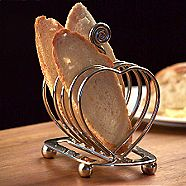 Heart shaped toast rack serving tableware