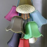 Traditional lampshade cluster light