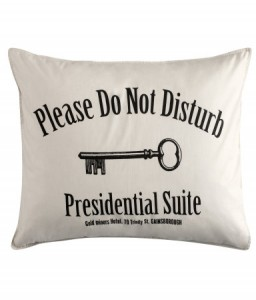 Bedding for a presidential suite
