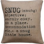 Snug cushion cover for a cosy home
