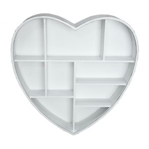 Shabby chic heart storage shelf
