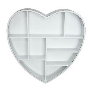 Shabby chic heart storage shelf