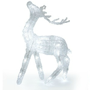 Clear lit reindeer lamp from Laura Ashley