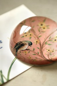 Bird paperweight from Lavender Room