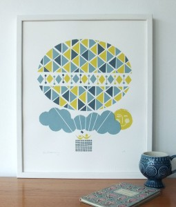 Ballooning screenprint from Roddy & Ginger