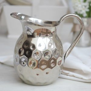 Silver finish serving jug