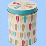 Vintage leaf round storage tin