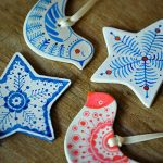 Handmade clay Christmas decorations