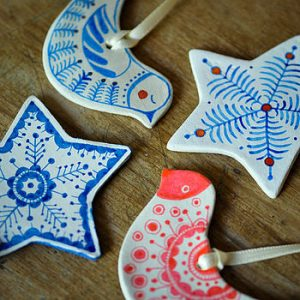 Handmade designer xmas decorations