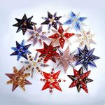Handmade glass Christmas stars