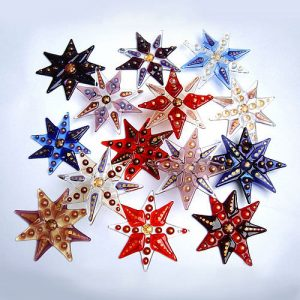 Handmade Christmas tree star decoration