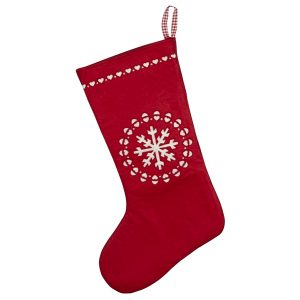 Laser cut snowflake design Christmas stocking