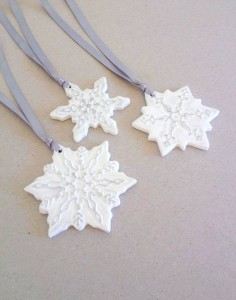 Snowflakes by Jos CreationsGR featured on Cosy Home Blog