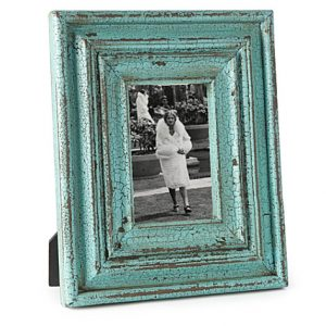 Turquoise wooden photo frame