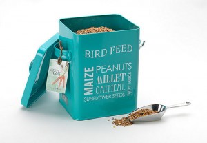 Bird food tin and scoop from Freshly Forked