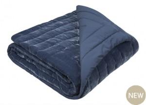 Luxury velvet quilt bedspread