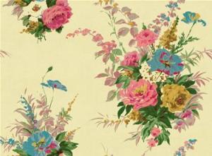 Pretty floral rose wallpaper