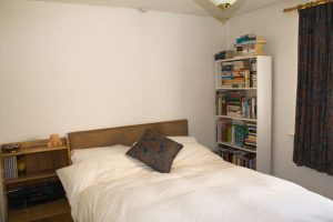 Undecorated spare bedroom