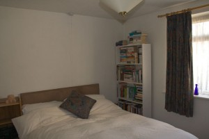Undecorated uninspiring bedroom
