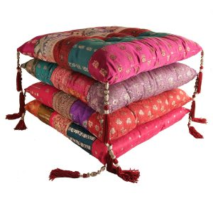 Colourful Indian cushions chair pads