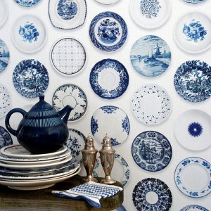 Classic traditional blue and white china