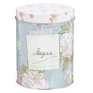 Traditional country kitchen storage jar tin