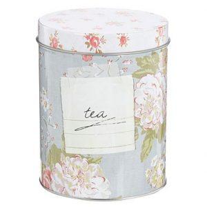 Shabby chic rose kitchen storage tin