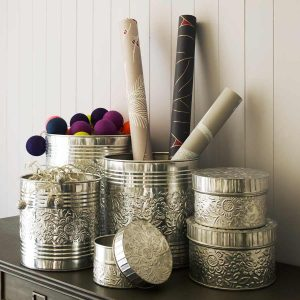 Storage tins and bins set